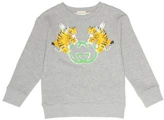 Gucci Kids Printed cotton sweater