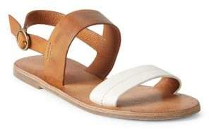 Frye Ally Two-Band Leather Slingback Sandals