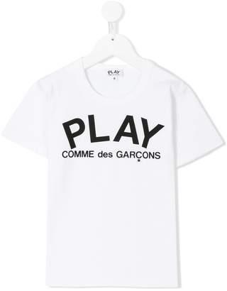 Comme des Garcons Kids logo print T-shirt