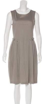 Saint Laurent Sleeveless Lace-Up Dress
