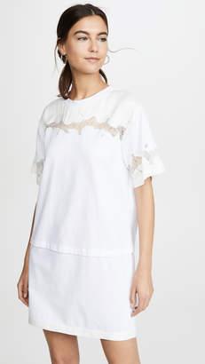 3.1 Phillip Lim Satin & Lace T-Shirt Dress