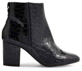 Topshop Brooklyn Crocodile Effect Boots