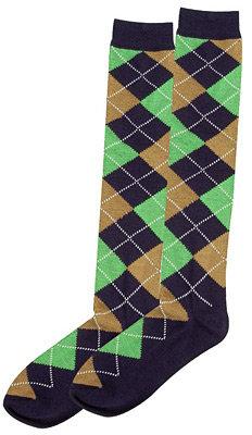 Argyle Knee High Socks