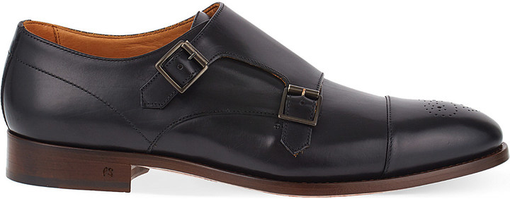 Paul SmithPaul Smith Atkins leather double monk shoes