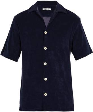 HECHO Terry-towelling cotton-blend short-sleeved shirt