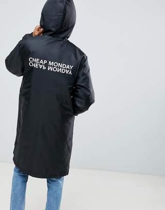 Cheap Monday Logo Back Print Rain Coat