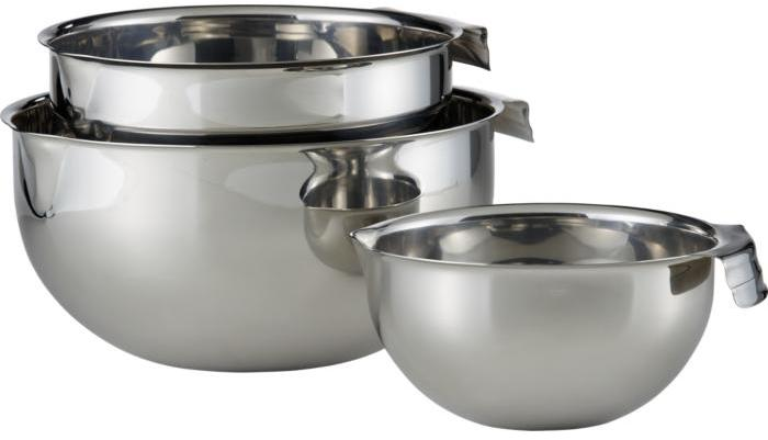Stainless Mixing Bowls with Pour Spouts