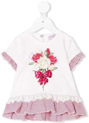 MonnaLisa rose print T-shirt