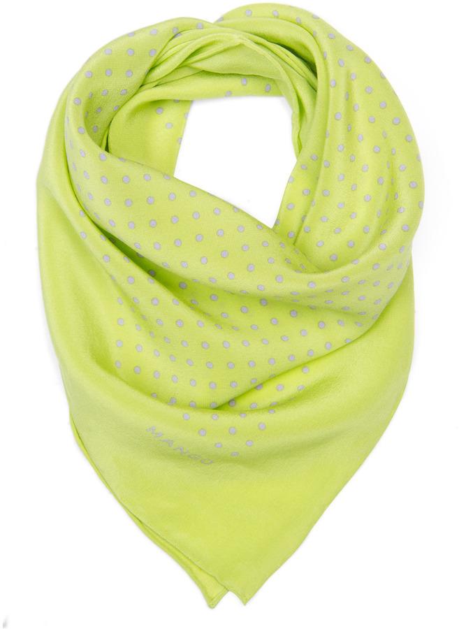 Polka dot silk scarf
