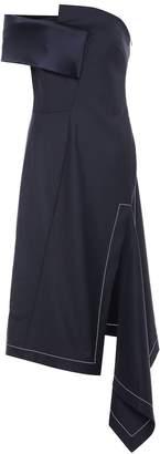 Monse Asymmetric stretch wool midi dress