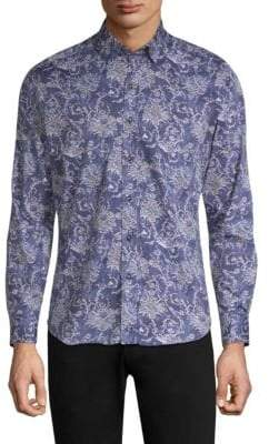 Robert Graham Saint Long-Sleeve Cotton Button-Down Shirt