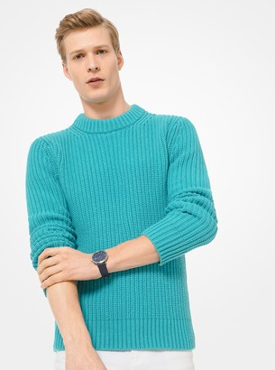 Michael Kors Ribbed Cotton and Cashmere Sweater
