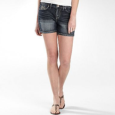 JCPenney a.n.a® Thick Stitch Denim Shorts