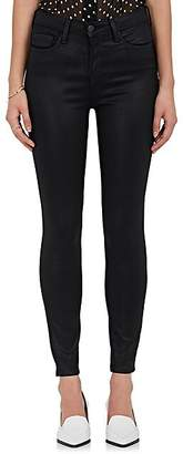 L'Agence Women's Margot Coated Skinny Jeans - Black Coat
