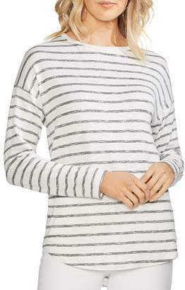 Vince Camuto Heathered Stripe Drop-Shoulder Top
