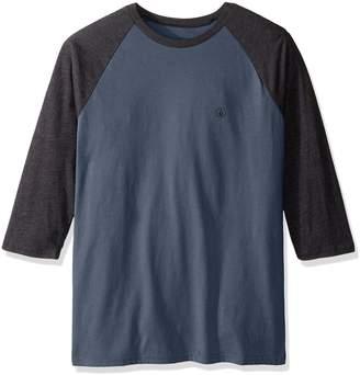 Volcom Men's Solid Heather 3/4 Sleeve Raglan Shirt