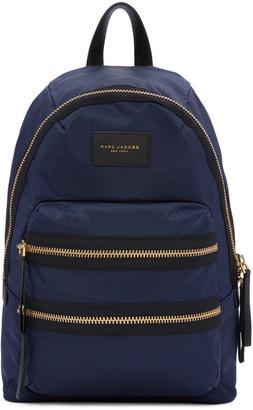 Marc Jacobs Navy Nylon Biker Backpack $195 thestylecure.com