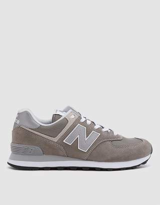 d90b0bcc35e New Balance 574 Suede Sneaker in Grey White