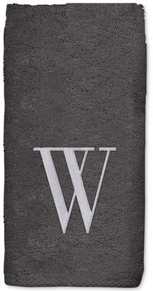Avanti Grey Monogram Embroidered Bath Towel Bedding