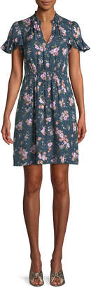 Rebecca Taylor Emilia Floral-Print Silk Mini Dress