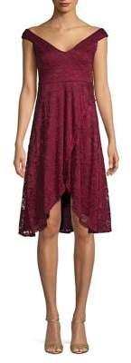 Quiz Floral Lace Asymmetric Shift Dress