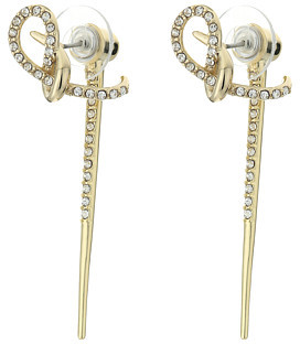 Alexis Bittar Alexis Bittar Crystal Encrusted Ear Hook w/ Removable Spiked Jacket Earrings