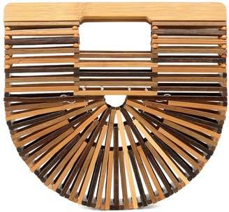 Cult Gaia Ark Mini bamboo clutch