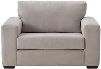 Eton Argos Home Fabric Cuddle Chair - Grey