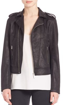 The Kooples Leather Effect Biker Jacket $285 thestylecure.com