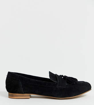 e436178b6bc Asos Design DESIGN Wide Fit Message suede tassel loafers