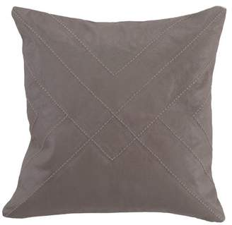 Kosas Sheffton Authentic Leather 18 Throw Pillow by Home
