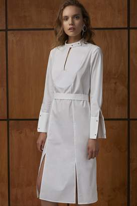 C/Meo COLLECTIVE NOT THIS TIME SHIRT DRESS ivory