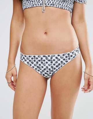 Motel Gingham Ruffle Bikini Bottom