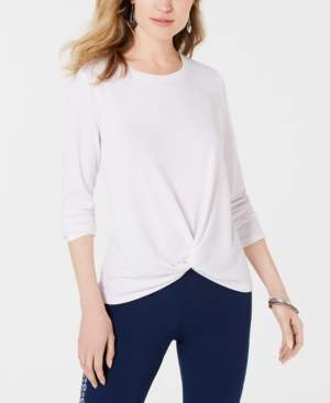 Style&Co. Style & Co Twist-Front Top, Created for Macy's