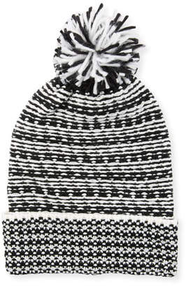 Rebecca Minkoff Patchwork Jacquard Beanie Hat