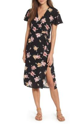 Mimichica Mimi Chica Print Tie Front Dress