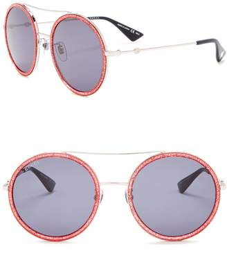 Gucci Round Aviator 56mm Sunglasses