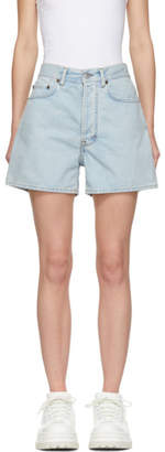 Acne Studios Blue Bla Konst Denim Swamp Shorts