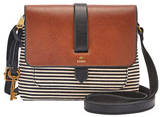 Fossil Kinley Striped Leather Crossbody Bag