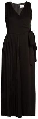 Osman Perfect 5 half-pleated crepe jumpsuit
