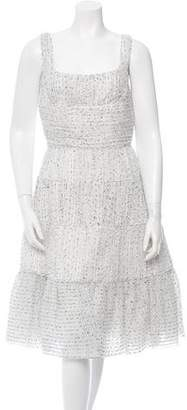 Rochas Pleated Bouclé Dress w/ Tags