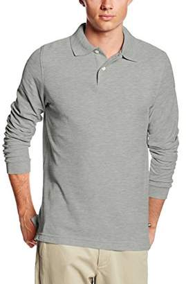 Lee Uniforms Men's Modern Fit Long Sleeve Polo