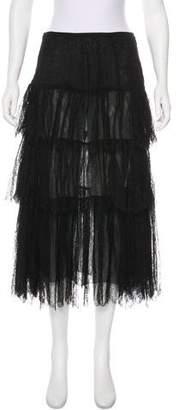 Ralph Lauren Black Label Lace Midi Skirt