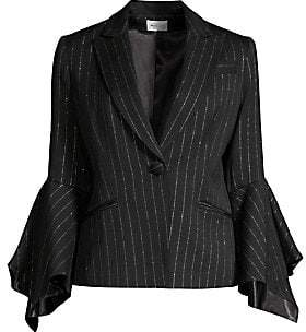 Milly (ミリー) - Milly Women's Metallic Pinstripe Blazer
