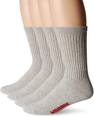 Wolverine Men's 4 Pack Cotton Crew Sock