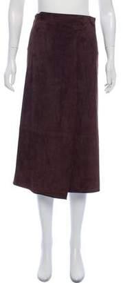 Calvin Klein Collection Suede Midi Skirt