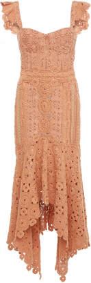 Jonathan Simkhai Macramé Ruffle Bustier Dress