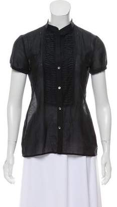 Theory Lightweight Button-Up Top