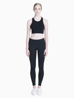 Calvin Klein lattice long line sports bra