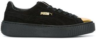 Puma contrast toe cap sneakers $96.58 thestylecure.com